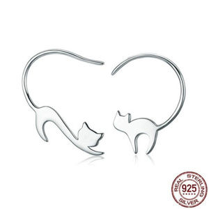 Jewelry - Naughty Cats Asymmetric Sterling Silver Earrings🐈